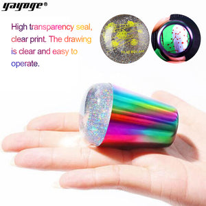 YAYOGE Multicolor Aurora Silicone Nail Stamper Scraper Kit Christmas New Year Nail Stamping Tools - YAYOGE Official
