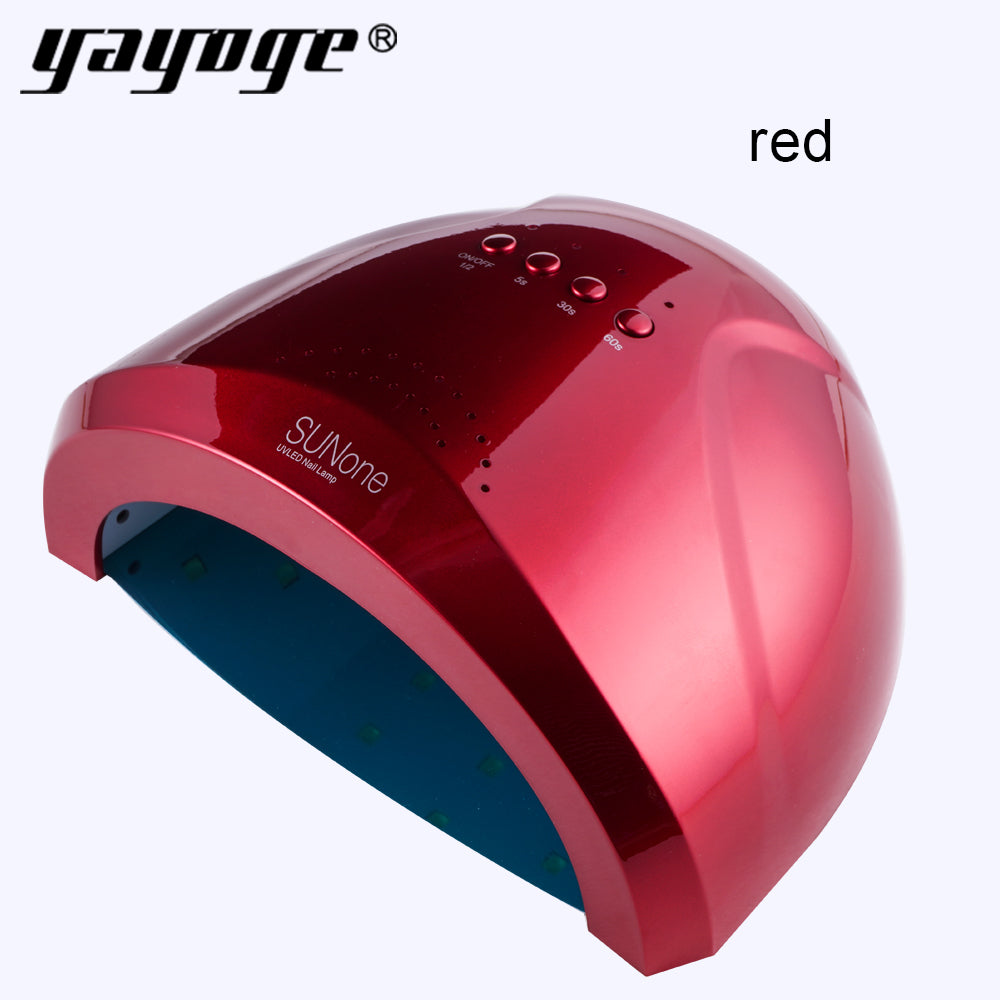 SUNone 24W/48W LED UV Lamp Nail Dryer 5S/30S/60S Fingernail Toenail Gel Dryer Lamp Nail Art Curing Manchine - YAYOGE Official