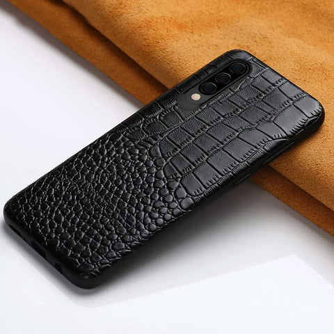 3D Crocodile Skin Embossed genuine leather phone case, 360 full protection for Samsung Galaxy