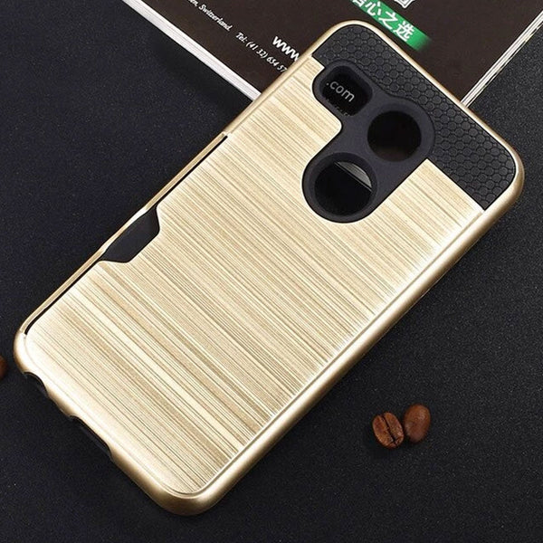 Pull Card Fitted Anti-knock 5.2 inch Mobile Phone Back Covers Case for LG & Nexus 5X