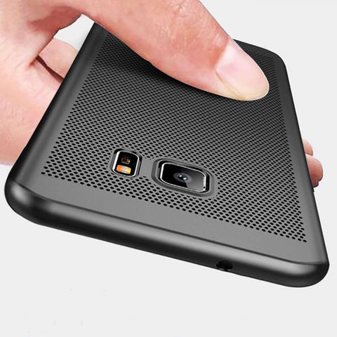 Samsung Galaxy Note S9 S8 S7 S6 Heat Dissipation Hollow Thin Ultra Slim Soft Back Case Pc Covers