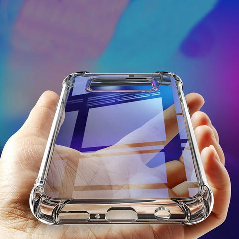 Soft silicone transparent corner cushioned phone covers for Samsung Note 9