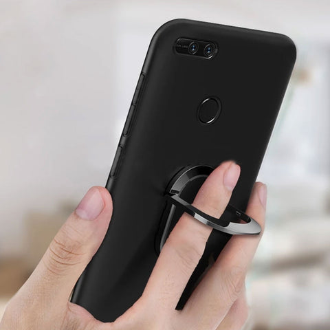 Matte Anti-Knock Dirt-Resistant case with Magnetic Finger Ring Holder
