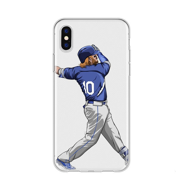 American Baseball Sports Phone Covers For iPhone Made With A Soft Silicone Shell