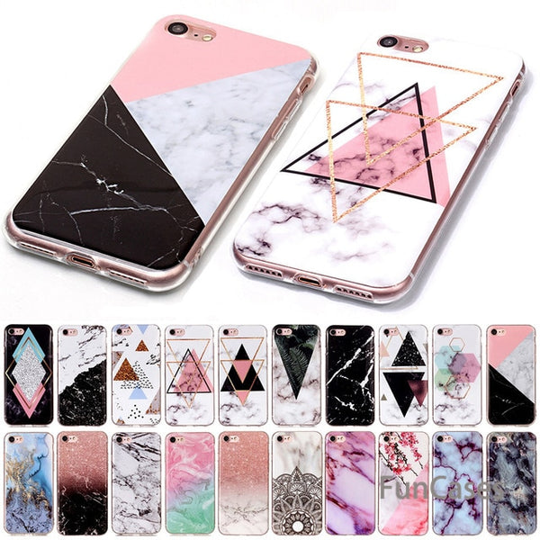 Soft TPU Silicone Marble Back Covers For iPhone XS Max