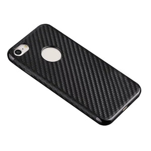 iPhone 7 Soft Silicone Thin Covers, Luxury Carbon Fiber Covers