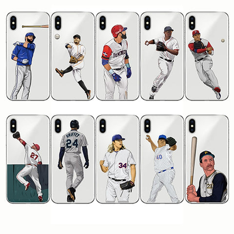 Capinha Cartoon Baseball Covers Made With Best Quality Soft Silicone For iPhone