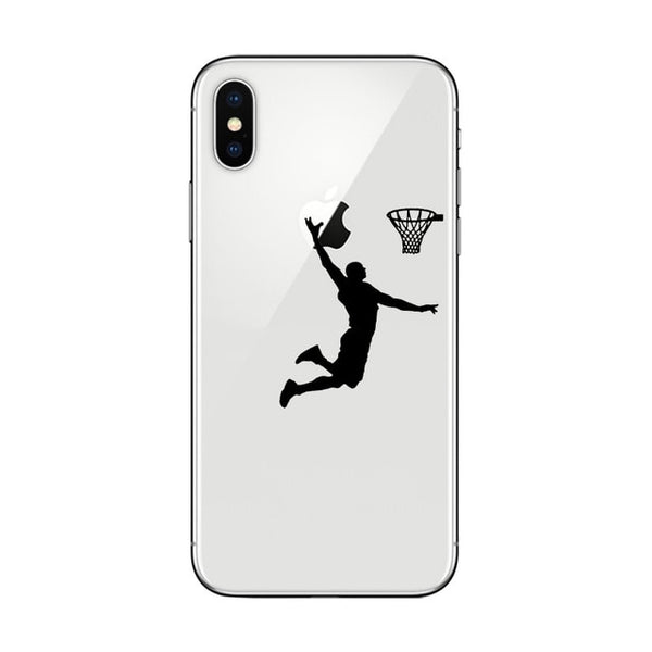 Sports Phone Covers With Silhouettes Of The Players Made With The Soft Silicone TPU Material