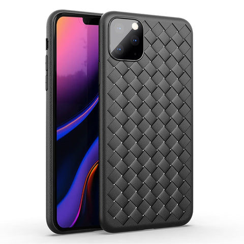 For Apple iphone 11 Case Luxury BV Grid Weaving Slim soft Protective Back Covers Case For iPhone 11 Pro Max iPhone 11 11 Pro Shell