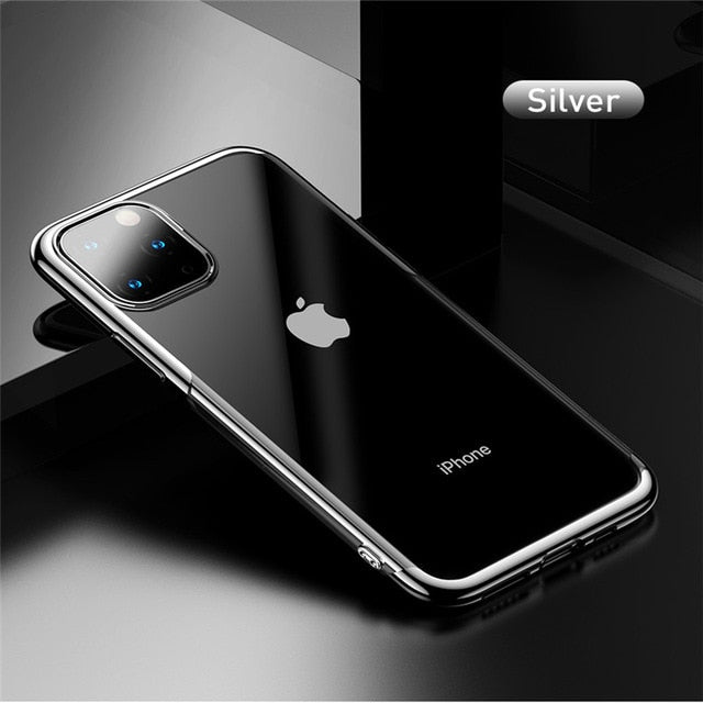 Baseus Luxury Silicone Case For iPhone 11 Pro Case For iPhone 11 Pro MAX Case Phone Protective Case Back Coque Covers Case
