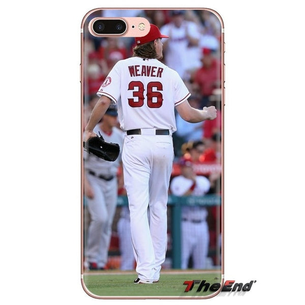 Angels Baseball Inspired Transparent Dirt-resistant Fitted Soft Case Covers for Samsung