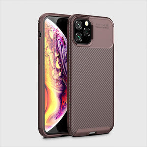Raugee Case For Iphone 11 Case Covers Luxury Carbon Fiber Bumper Phone Case Covers For iPhone 11 11 Pro Max Funda Coque 2019