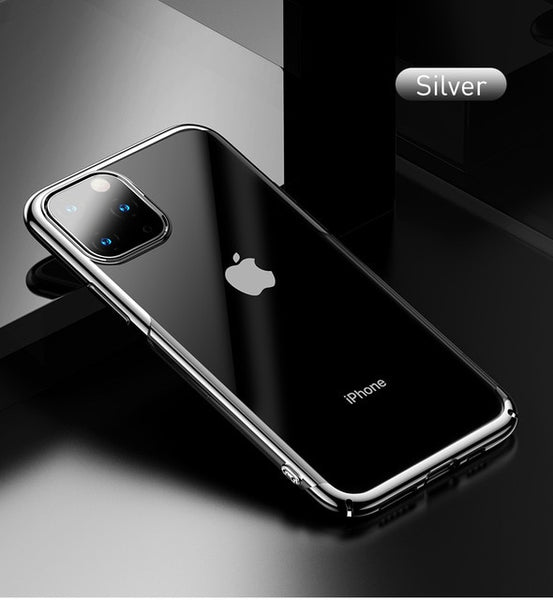 BASEUS Bling Electroplating ARC Edge Hard PC Case For iPhone 11 Pro Max / For iPhone 2019 Ultra-Slim Clear Back Phone Covers