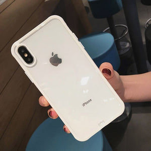 Shockproof Bumper Transparent Silicone Phone Case For iPhone 11 2019 X XS XR XS Max 8 7 6 6S Plus Clear protection Back Covers