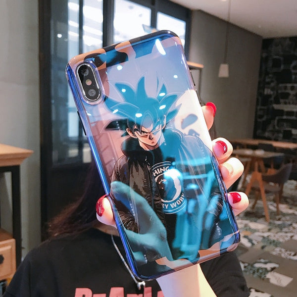 Japan Dragon Ball Z Super Son Goku DBZ Covers Case For iPhone 11 Pro X XR XS MAX 6 S 7 8 Plus Blue Light Soft Silicon Phone Coque