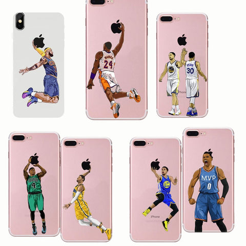 Styled Soft Mobile Phone Shell Basketball Phone Case Covers For iPhone X 7 8 6 PLUS SE 5 XR XS MAX