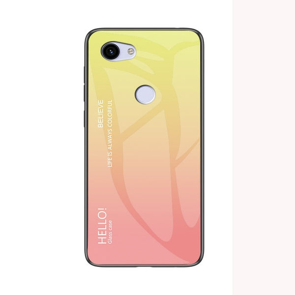 Fashion Hard Toughened glass Gradient Protective Back Cover case For Your Phone