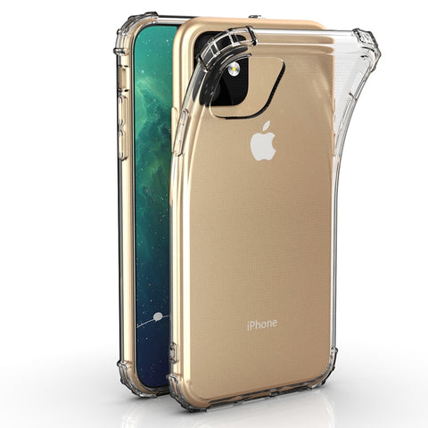 For iPhone 11 2019 Crystal TPU Soft Back Case iPhone 11 Pro Shockproof Phone Case