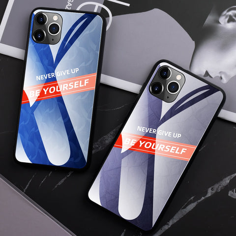 Luxury Glass Phone Case For iPhone 11 Pro Max XR XS Gradient Tempered Glass Case For iPhone 11 Pro XS MAX XR X 8 7 6 6S Plus 8 7