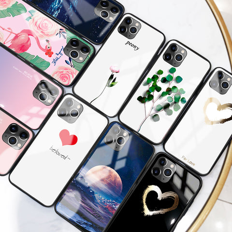 Luxury Tempered Glass Case For iPhone 11 Pro Max 7 8 XR X 6S 6 Plus XS Max Soft TPU Edge Covers Coque Funda For iPhone 11 Pro Max