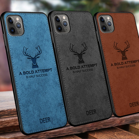 Phone Case For iPhone 11 Pro Max XS XR XS MAX X 8 7 6 6S Plus Soft Fabric Canvas Cloth Texture Covers Case For iPhone 11 Pro Max