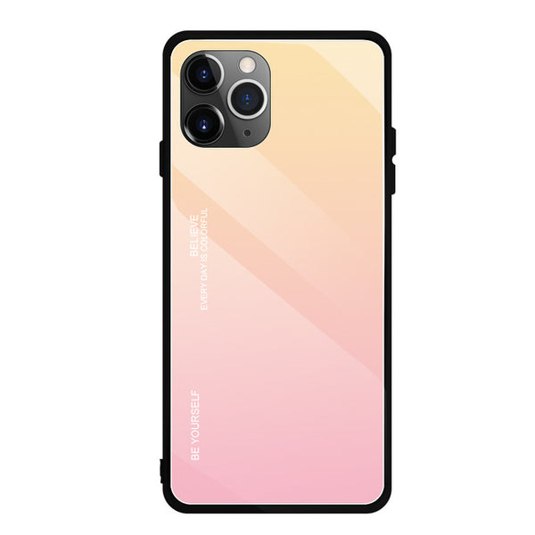 Phone Case For iPhone 11 Pro Max 11 Pro Gradient Tempered Glass Case For iPhone 11 Pro Max 11 Pro 2019 Capa Funda 11 Pro Max Bag