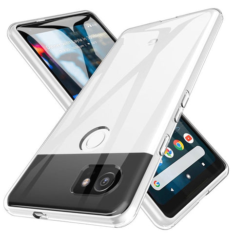 Shockproof Full Protection Crystal Soft Silicon Transparent Plain Anti-knock High-Quality Phone Case for Google Pixel