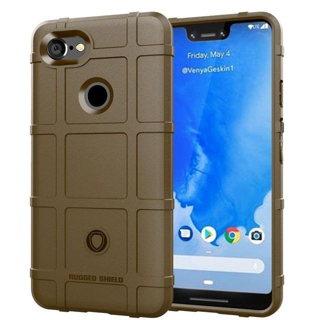Rugged Shield Shockproof Soft Airbag Premium Silicone Case with Heavy Duty Protection