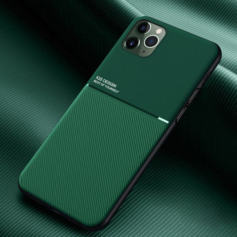 Luxury Non-Slip Stripes Phone Case For iPhone 11Pro Matte Soft Silicone Shockproof Back Cover