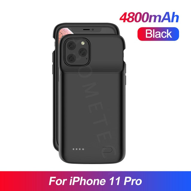 Battery Charger Case For  iPhone 11 Case for iPhone 5S SE 6 6S 7 8 Plus X XR XS MAX  Pro Universal Portable Power Bank Charger