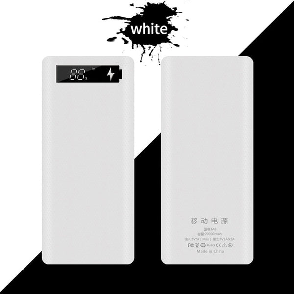 Forskrto 5V Dual USB 8*18650 Power Bank Type C USB Battery Box Mobile Phone Charger DIY Shell Case For IPhone X Samsung S10 Plus