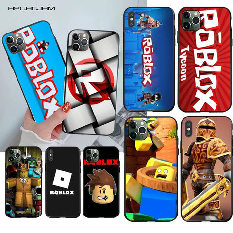 HPCHCJHM Popular Game Roblox Logo Printing Phone Case cover Shell for iPhone 11 pro XS MAX 8 7 6 6S Plus X 5S SE 2020 XR case