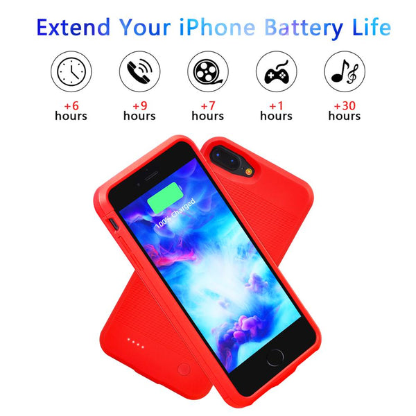 3600mAh Battery Charger Case for iPhone 7plus  8plus Battery Power Bank Charging Charger Cover Case