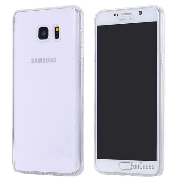 Full Body Protection Transparent Soft TPU Dirt Water Resistant Phone Case Mobile Covers for Galaxy