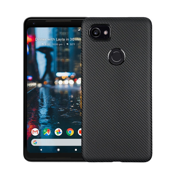 For Google Pixel 2 / 2XL case Luxury Carbon Fiber Anti-drop TPU Soft silcone Cover Case For Google pixel 2 XL protective case