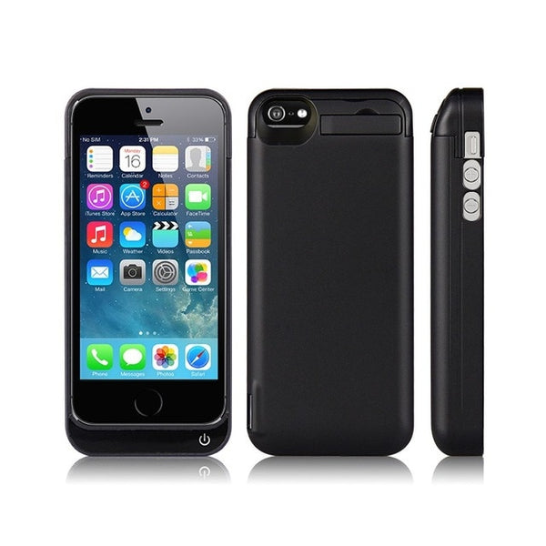 For iphone 5 Battery Case 4200Mah Backup Cover Smart Charge For iphone 5 Battery Case 5S SE Battery Case Bank Gold