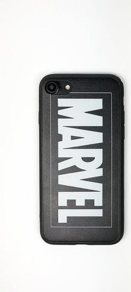 Retro Marvel Phone Covers In Simple Text Made For iPhone Made With Soft Silicone