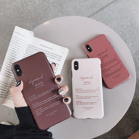 Letter Print Soft Silicone Back Phone Covers In Attractive Colors For iPhone