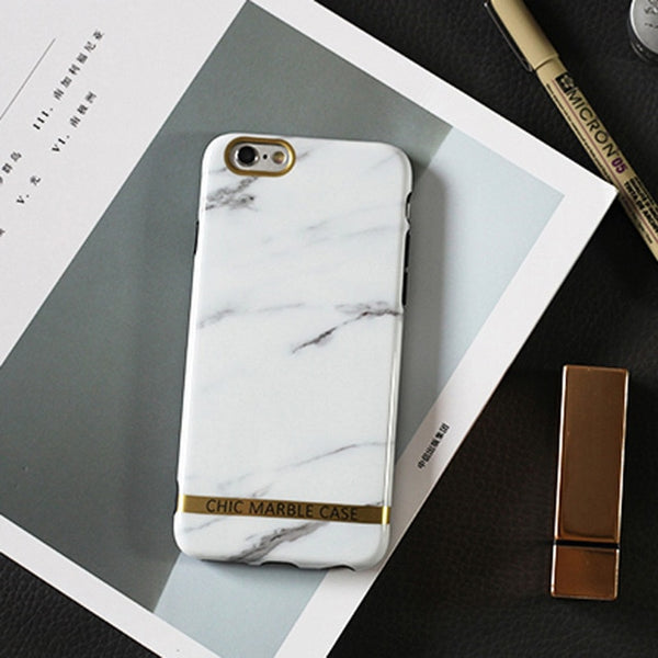 Psychedelic Glossy Marble Slim Fit Hard Phone Case for iPhone