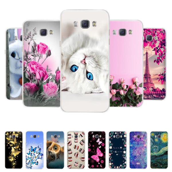 Soft Silicone Phone Case and Silicone Covers Bumper Back Covers For Samsung Galaxy J7 2016, J710F