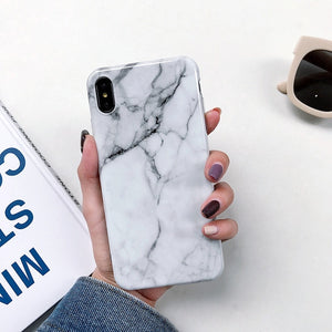 Marble phone case and luxury silicone soft cases for Samsung Galaxy A7, A10