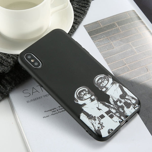 KISS CASE Funky Black Matte Finish Soft Silicon Slim Mobile Phone Case Covers For Samsung Galaxy
