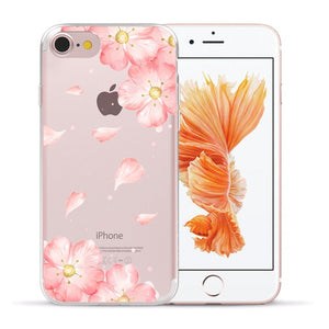 Beautiful Vintage Floral Cute Soft TPU Gel Silicon Printed Designer Mobile Phone Case for Apple