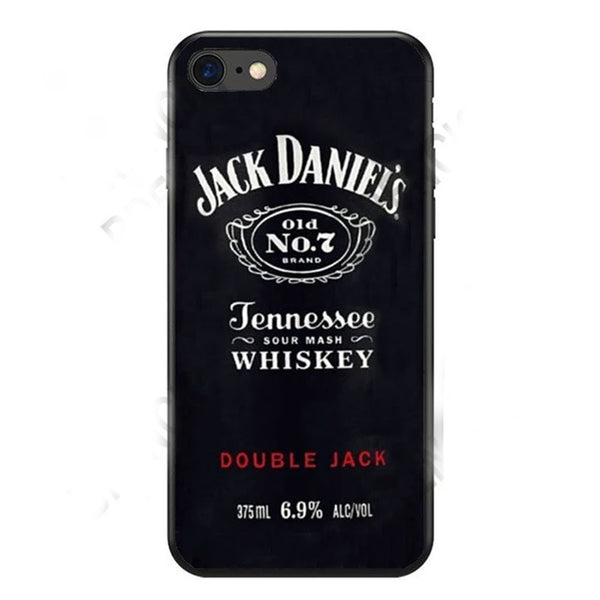 Soft Silicon New Fashionable Phone Covers For Your iPhone With a Jack Daniels Whiskey Print.