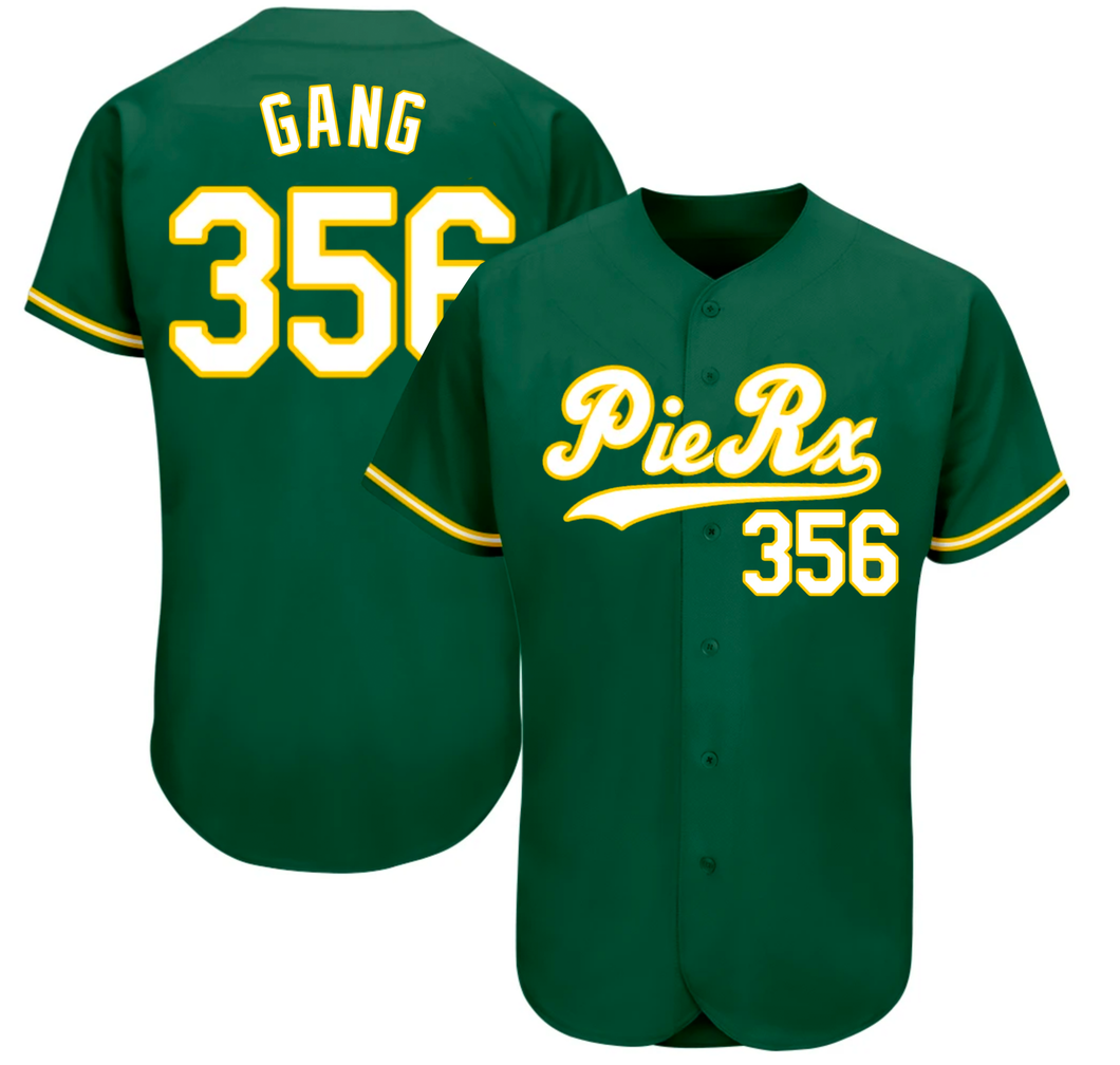 Green/Yellow 356 Baseball Jersey - Gang