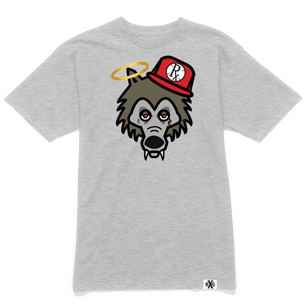 RxG Wolf Tee - Athletic Heather Grey