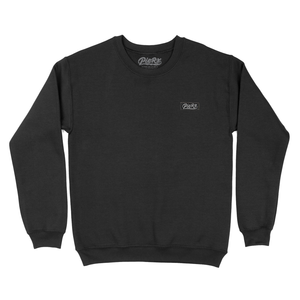 Whip Game Tag Crewneck - Black