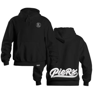 Chenille Circle Rx Hoodie - Black