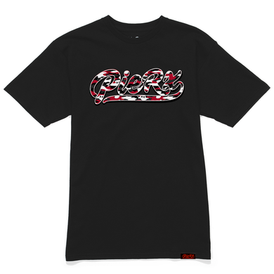 **PRE-ORDER** Whip Game Red Camo Tee - Black