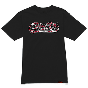 Whip Game Red Camo Slim Fit Tee - Black